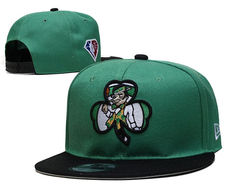 Celtics Team Logo New Era Green Black 2021 NBA Draft Adjustable Hat YD