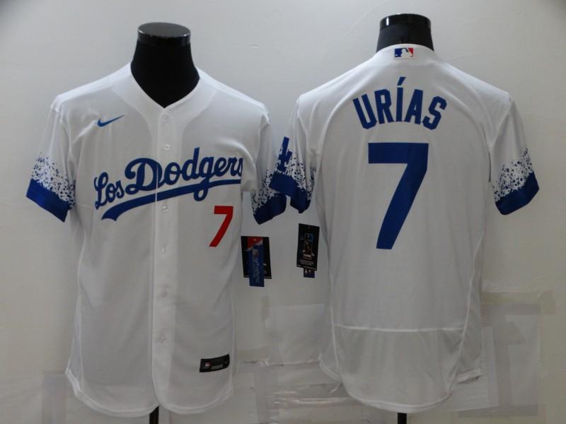 Dodgers 7 Julio Urias White 2021 City Connect Flexbase Jersey