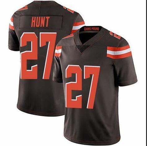 Nike Browns 27 Kareem Hunt Brown Vapor Untouchable Limited Jersey