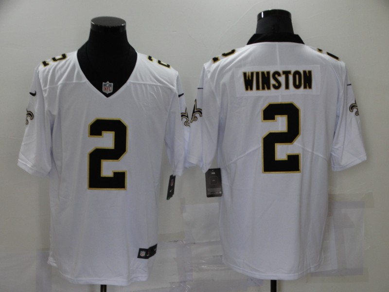 Nike Saints 2 Jameis Winston White Vapor Untouchable Limited Jersey