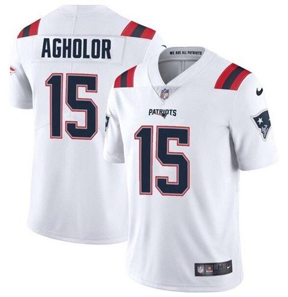 Nike Patriots 15 Nelson Agholor White Vapor Untouchable Limited Jersey