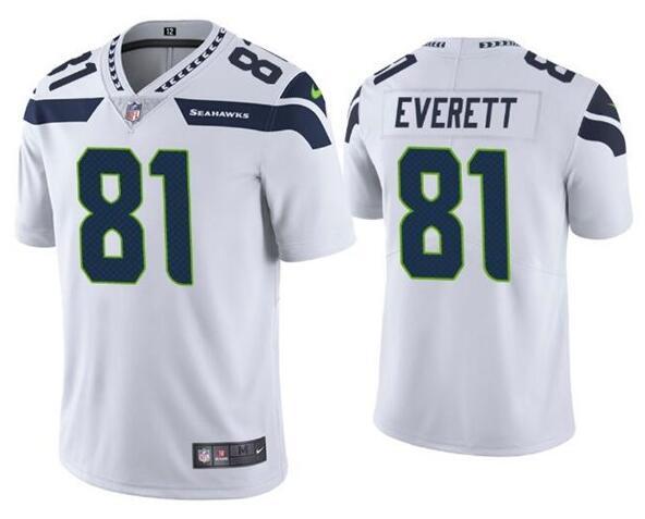 Nike Seahawks 81 Gerald Everett White Vapor Untouchable Limited Jersey