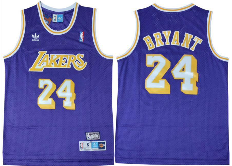 Lakers 24 Kobe Bryant Purple Adidas Swingman Jersey
