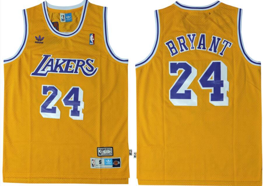 Lakers 24 Kobe Bryant Yellow Adidas Swingman Jersey