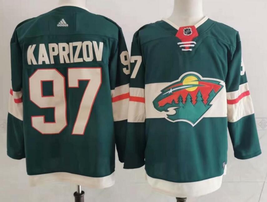 Wild 97 Kirill Kaprizov Green Adidas Jersey