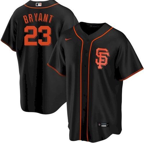 Giants 23 Kris Bryant Black 2020 Nike Cool Base Jersey