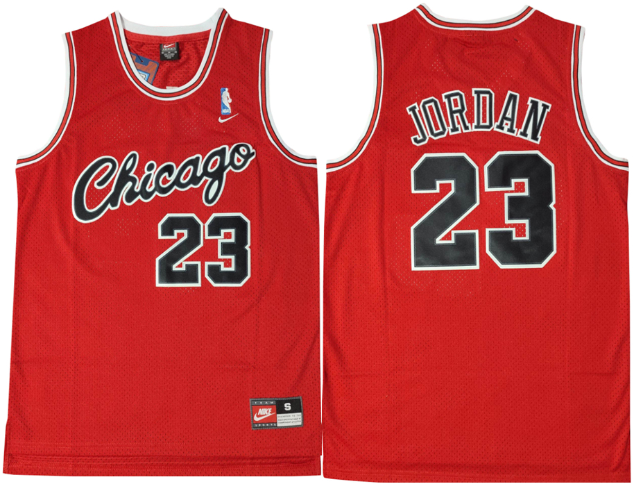 Bulls 23 Michael Jordan Red Nike Swingman Jersey