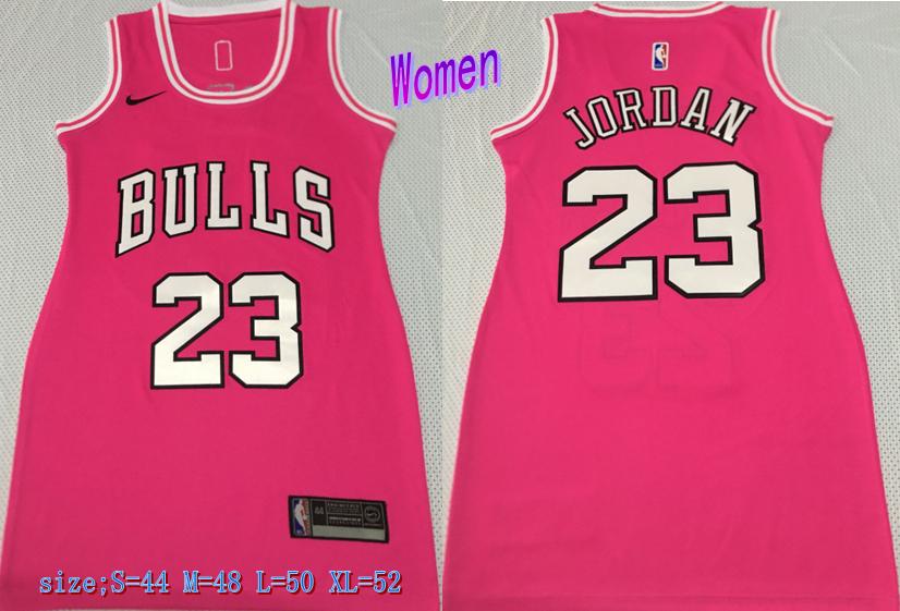 Bulls 23 Michael Jordan Pink Women Nike Swingman Jersey
