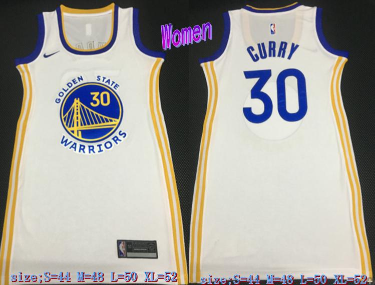Warriors 30 Stephen Curry White Women Nike Swingman Jersey