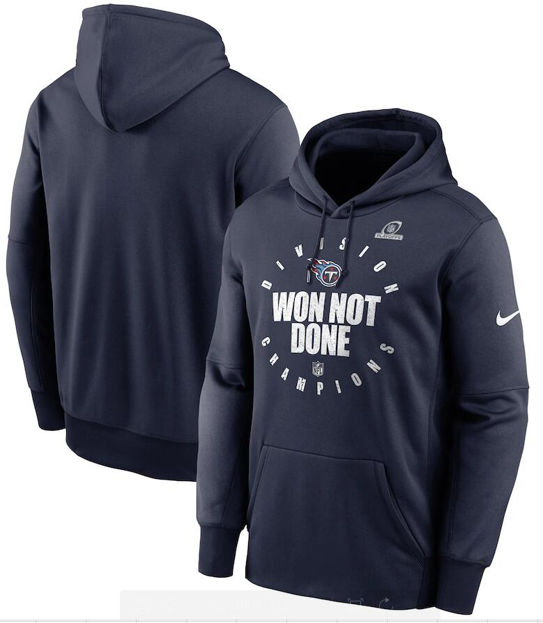 Men's Tennessee Titans Nike Navy 2020 AFC South Division Champions Trophy Collection Pullover Hoodie