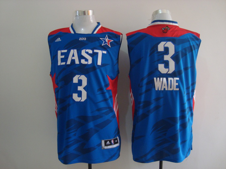 2013 All Star East 3 Wade Blue Jerseys