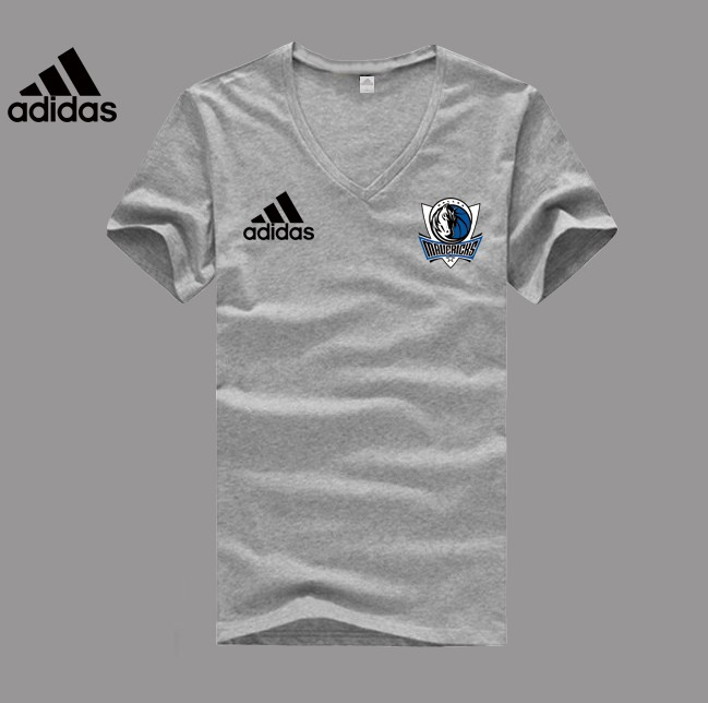 Adidas Dallas Mavericks grey V-neck T-shirt