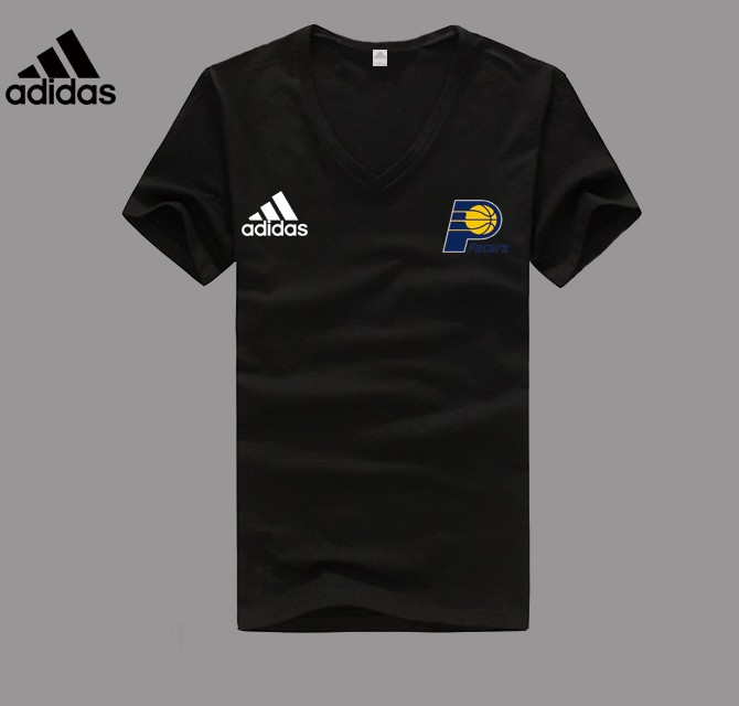 Adidas Indiana Pacers black V-neck T-shirt