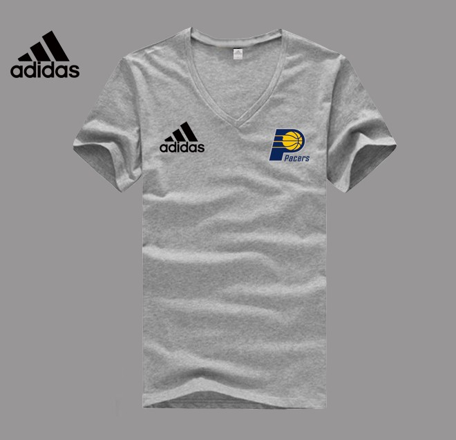 Adidas Indiana Pacers grey V-neck T-shirt