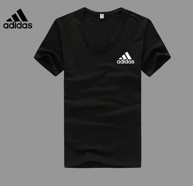 Adidas Logo black V-neck T-shirt