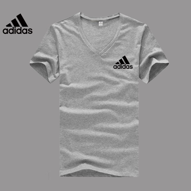 Adidas Logo grey V-neck T-shirt