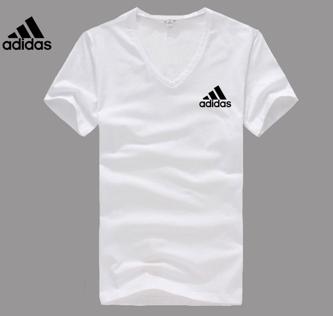 Adidas Logo white V-neck T-shirt