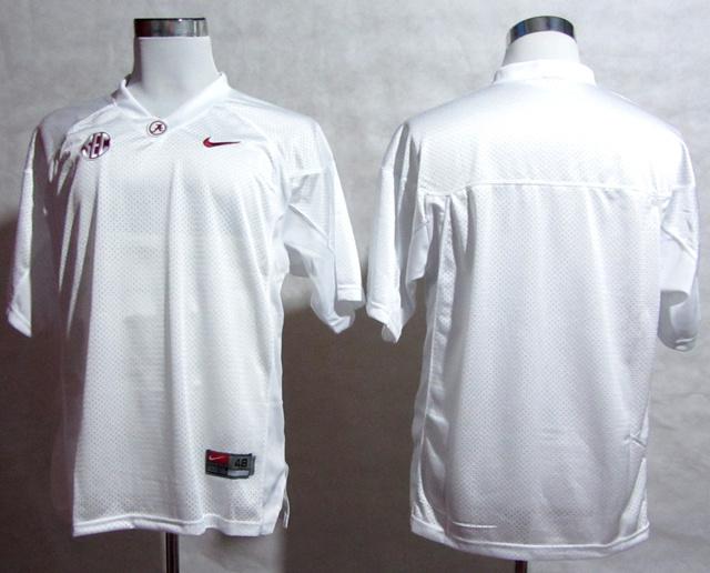 Alabama Crimson Tide Blank 2012 SEC Patch White Jerseys