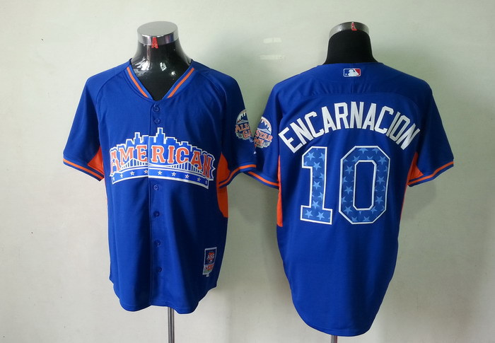 American League 10 Encarnacion blue 2013 All Star Jerseys