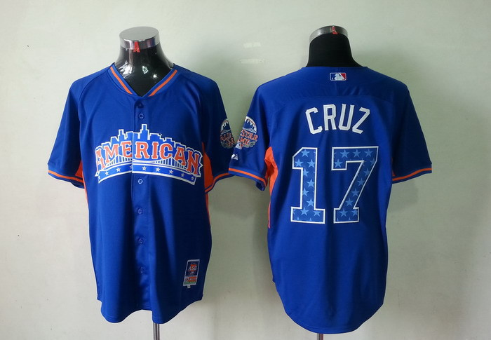 American League 17 Cruz blue 2013 All Star Jerseys