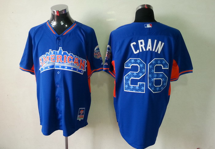 American League 26 Crain blue 2013 All Star Jerseys