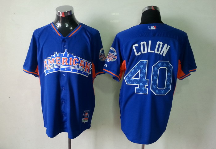 American League 40 Colon blue 2013 All Star Jerseys