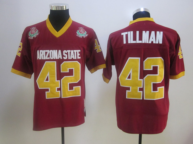 Arizona state #42 TILLMAN REDJerseys