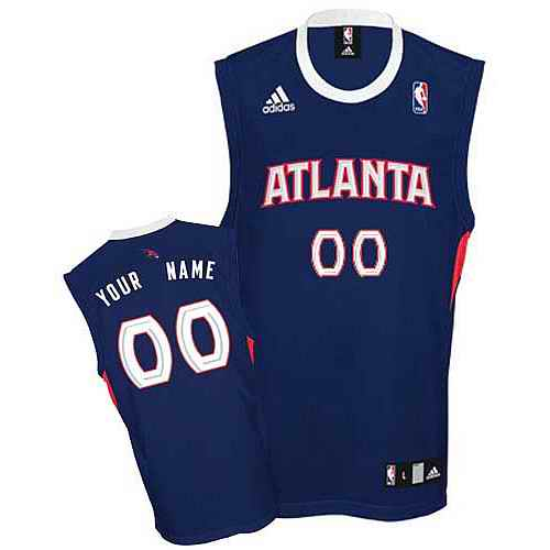 Atlanta Hawks Youth Custom Round-neck blue Jersey
