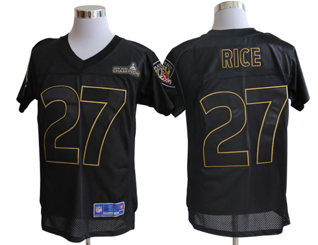 Baltimore Ravens Pro Line 27 Rice Super Bowl XLVII Champions Jerseys
