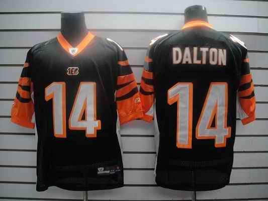 Bengals 14 Dalton Black Jersey