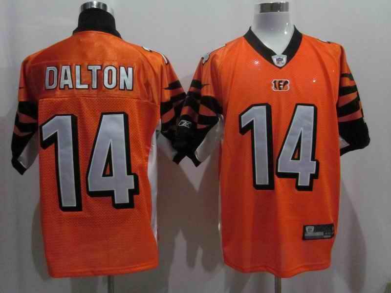 Bengals 14 Dalton Orange Jerseys