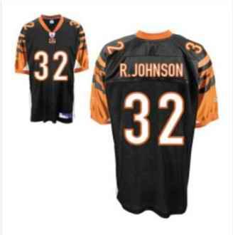 Bengals 32 Rudi Johnson Black Jerseys