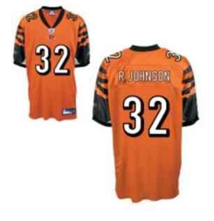 Bengals 32 Rudi Johnson Orange Jerseys