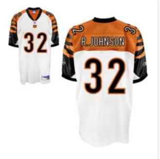 Bengals 32 Rudi Johnson White Jerseys
