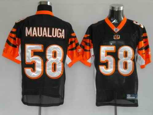 Bengals 58 Maualuga Black Jerseys