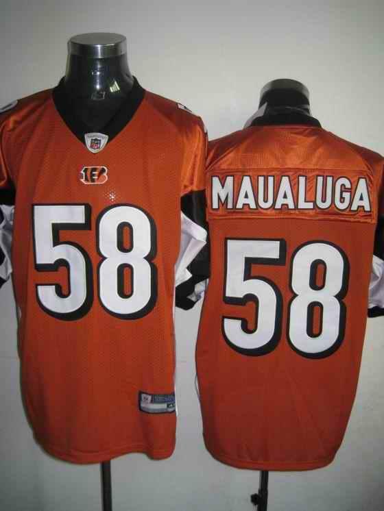 Bengals 58 Maualuga Orange Jerseys