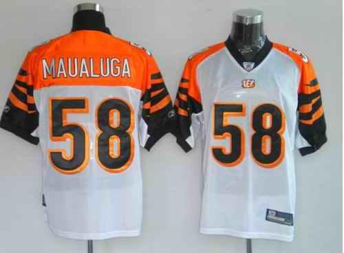Bengals 58 Maualuga White Jerseys
