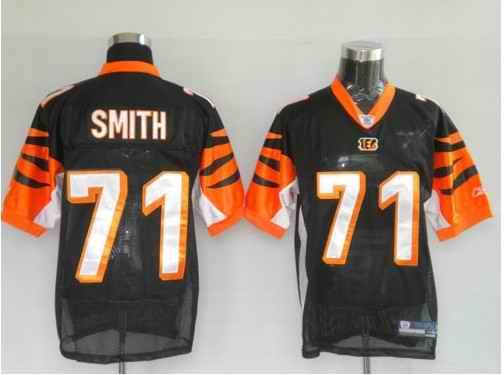 Bengals 71 Smith Black Jerseys