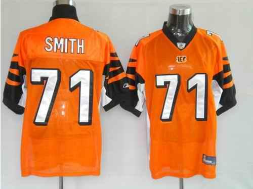 Bengals 71 Smith Orange Jerseys