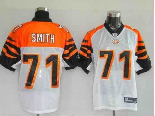 Bengals 71 Smith White Jerseys