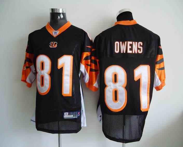Bengals 81 Owens Black Jerseys