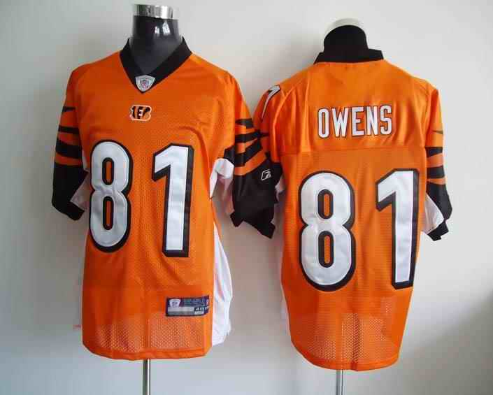 Bengals 81 Owens Orange Jerseys