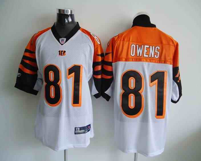 Bengals 81 Owens White Jerseys