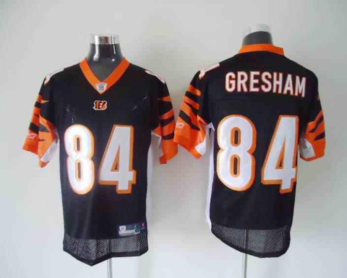 Bengals 84 Gresham Black Jerseys