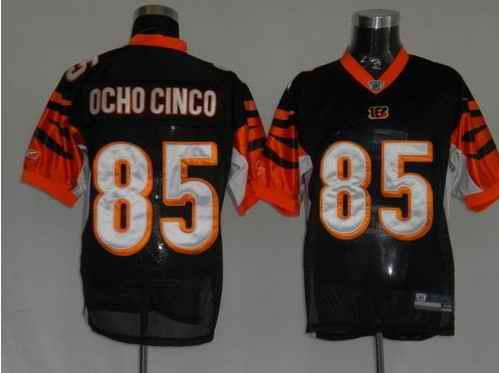Bengals 85 Ocho Cinco Black Jerseys