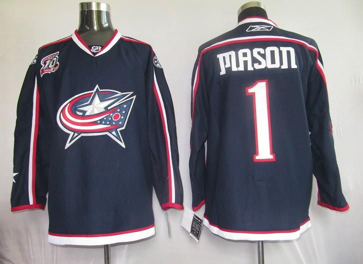 Blue Jackets 1 Mason blue Jerseys