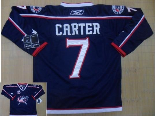 Blue Jackets 7 Carter blue Jerseys