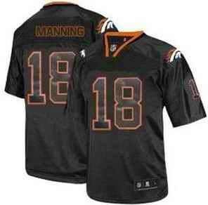 Broncos 18 Manning Lights Out BLACK jerseys