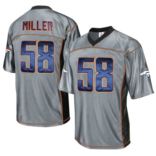 Broncos 58 Miller Grey Jerseys