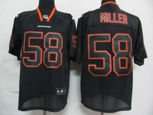 Broncos 58 Miller black field shadow Jerseys